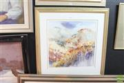 Sale 8468 - Lot 2030 - Terry Swann (XX) Landscape, watercolour, 79 x 77cm (frame size), signed lower right