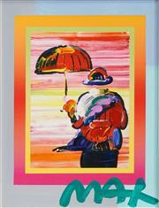 Sale 8492 - Lot 587 - Peter Max (1937 - ) - Umbrella Man 24 x 13.5cm