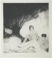 Sale 8492A - Lot 5068 - Norman Lindsay (1879 - 1969) - Summer 16.5 x 14.5cm (frame size: 51.5 x 47cm)