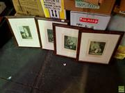 Sale 8619 - Lot 2081 - F. Wheatley (4 works) - Cries of London offset lithographs, 37.5 x 32.5cm (frames)