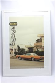 Sale 8658 - Lot 96 - Signed Framed Print Of An El Dorado And A Motel (Frame  93cm x 68cm)