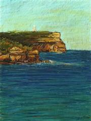 Sale 8752 - Lot 2022 - Sergio Sill (1946 - ) - Lighthouse & Majestic Cliffs of Jervis Bay 50 x 38cm