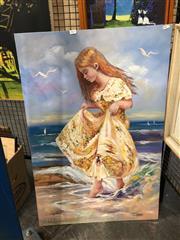 Sale 8752 - Lot 2059 - Anita Newman - Ebb Tide, oil on board, SLL
