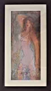 Sale 8778A - Lot 5006 - Batia Magal - Heavenly Morning 49 x 85cm (frame)