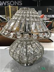 Sale 8809 - Lot 1057 - Cut Glass Form Table Lamp