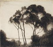 Sale 9013 - Lot 595 - Elioth Gruner (1882 - 1939) - Capris Cule no. 2 14 x 15.5 cm