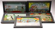 Sale 9078 - Lot 126 - A Group Of Indonesian Reverse Painted Artworks (5) (39cm x 28cm)
