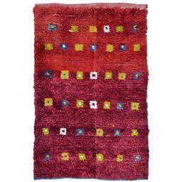 Sale 9090C - Lot 39 - Turkish Vintage Tulu Shag Rug, Angora Wool, 105x165cm.