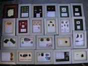 Sale 7905A - Lot 1645 - 12 Described Mineral Specimens in Frames