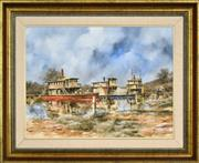 Sale 8316 - Lot 553 - John Guy (1944 - 2000) - Murray Paddles (NSW, c1885) 45 x 60cm