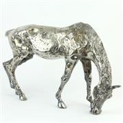 Sale 8356 - Lot 89 - Polished Metal Horse Figure
