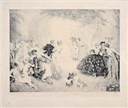Sale 8408 - Lot 560 - Norman Lindsay (1879 - 1969) - Little Scandals, 1925 26 x 32.5cm