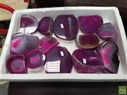 Sale 8554 - Lot 1056 - Tray Pink Polished Agates