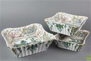 Sale 8603 - Lot 2 - Set of Three Graduated Kutani Dishes Painted With Landscapes