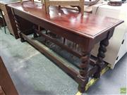 Sale 8601 - Lot 1088 - Barley Twist hall Table (H:76 W:183 D:50cm)