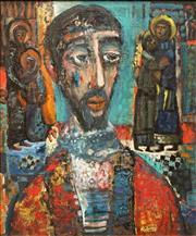 Sale 8642 - Lot 546 - Michael Kmit (1910 - 1981) - Ecce Homo, 1985 60 x 49.5cm
