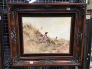 Sale 8752 - Lot 2063 - Anita Newman - Childhood Days, oil on board, SLL, artist details verso