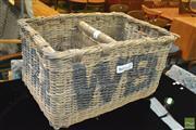 Sale 8338 - Lot 1017 - Large Wicker Wine Carrier