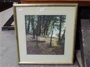 Sale 8417T - Lot 2025 - Chris Wilson, Rainforest, pastel, 29 x 28cm, signed lower right