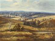 Sale 8699 - Lot 2013 - Lana Lagden - Rolling Hills of Wollomombi, near Armidale 44 x 60cm