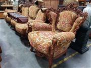 Sale 8717 - Lot 1089 - Heavily Carved Three Piece Salon Suite