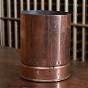 Sale 8782A - Lot 144 - A copper Wine cooler re purposed from the base of an antique fire extinguisher. Height 22cm width 17cm