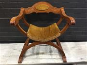 Sale 9006 - Lot 1049 - Savonarola Chair (h:73 x w:66cm)