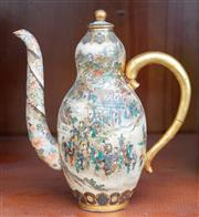 Sale 9058H - Lot 73 - A Satsuma ewer of small proportions with typical decoration, Height 14cm