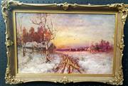 Sale 9058 - Lot 2044 - Artist unknown - Latvian Winter Landscape 34 x 51 cm