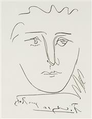 Sale 9081A - Lot 5062 - Pablo Picasso (1881 - 1973) - LAge de Soleil (Pour Roby), 1950 23 x 17.5 cm (frame: 62 x 57 x 3 cm)