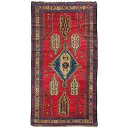 Sale 9090C - Lot 41 - Antique Caucasian Karabagh Rug, 145x245cm, Handspun Wool