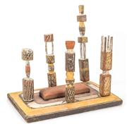 Sale 8288A - Lot 30 - A model Tiwi Burial Ground, c1960