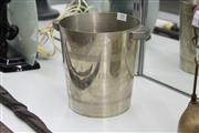 Sale 8346 - Lot 59 - Champagne Bucket Engraved Christofle