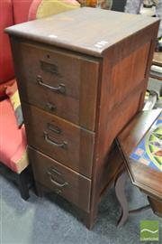 Sale 8347 - Lot 1057 - Vintage Timber Filing Cabinet