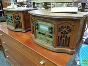 Sale 8465 - Lot 1070 - Pair of Vintage Style Radios