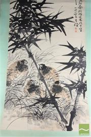 Sale 8494 - Lot 60 - Chinese Scroll Featuring Bamboo