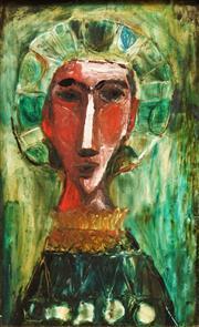 Sale 8642 - Lot 512 - Michael Kmit (1910 - 1981) - Head of an Apostle 29.5 x 19cm