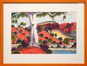 Sale 8630A - Lot 48 - Kevin Namatjira (1958 - ) - Near Haasts Bluff 33.5 x 51.5cm