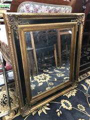 Sale 8822 - Lot 1563 - Gilt & Ebonised Framed Bevelled Edge Mirror