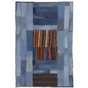Sale 8870C - Lot 51 - Turkish Vintage Denim Patchwork Carpet in Wool & Denim, 304x201cm