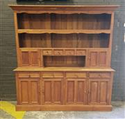Sale 8962 - Lot 1008 - Large Timber Side Board with Hutch (H:222 x W:212 x D:56cm)