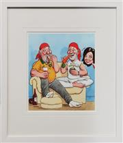 Sale 8964 - Lot 2097 - Peter Fitzsimon both Ways, Print 23x20cm