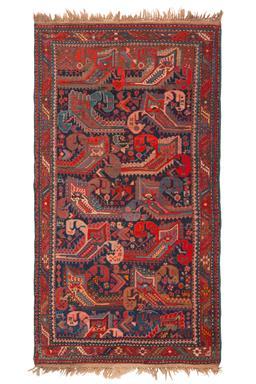 Sale 9090C - Lot 42 - Antique Caucasian Kazak, 120X220, Circa 1950, Handspun Wool
