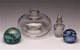 Sale 9114 - Lot 91 - Suite of glassware inc paperweights - some chips