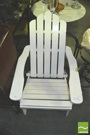 Sale 8371 - Lot 1099 - White Painted Timber Sunrise Chair