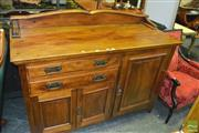 Sale 8386 - Lot 1033 - Two Drawer Timber Sideboard