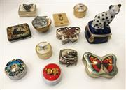 Sale 8436A - Lot 72 - Assorted pill boxes with themes of cats and butterflies. (12)