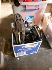 Sale 8582 - Lot 2251 - Small Fan & Soda Syphon