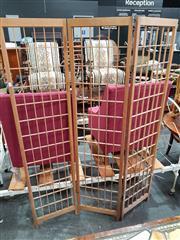 Sale 8724 - Lot 1072 - Timber Three Panel Modesty Screen