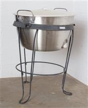 Sale 8782A - Lot 146 - A Coleman raised ice bucket with lid. Height 77cm diameter